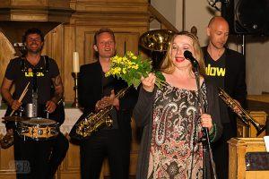 Die Band Beat & Blow beim 2. Parsteiner Musikfestival am 21.Juni 2015